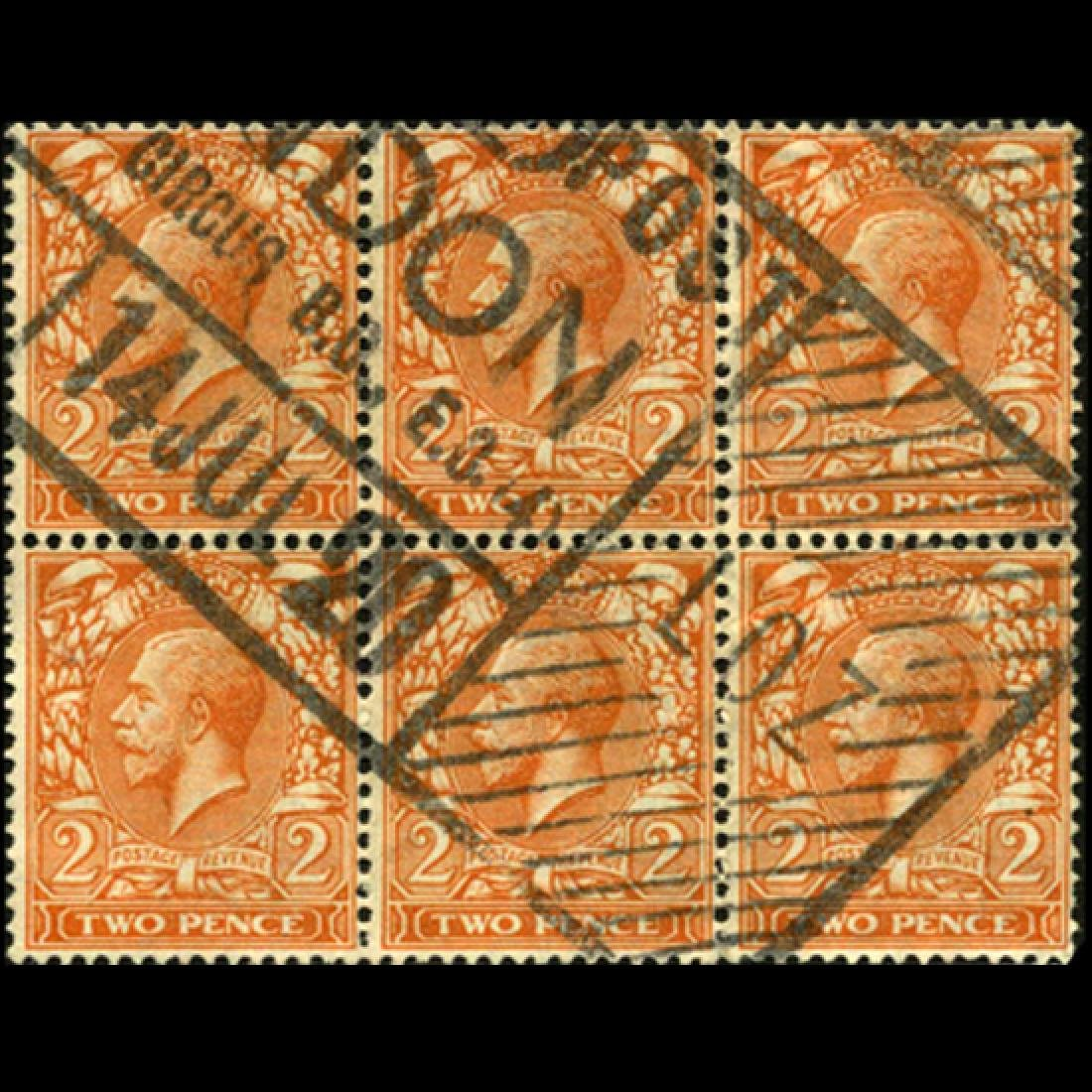 1916 Britain George VI 2p Stamp 6-Block
