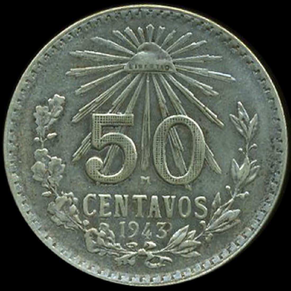 1943 Mexico 50c AU Prooflike