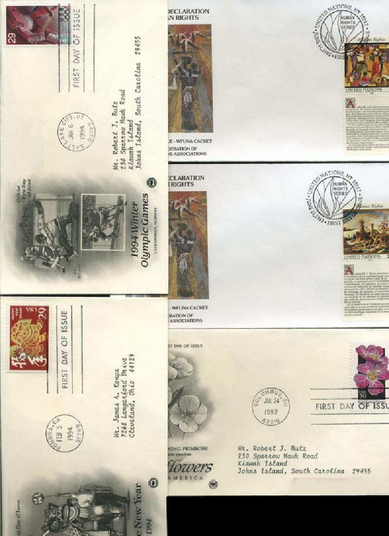1990 US & UN FIRST DAY COVER COLLECTION