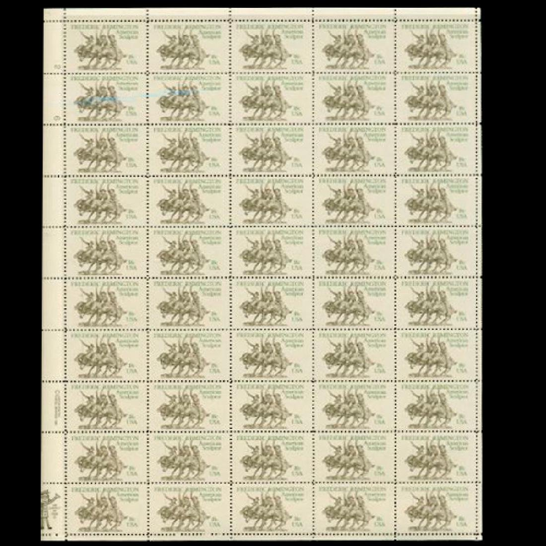1981 US Sheet 18c Frederick Remington Stamps MNH Error
