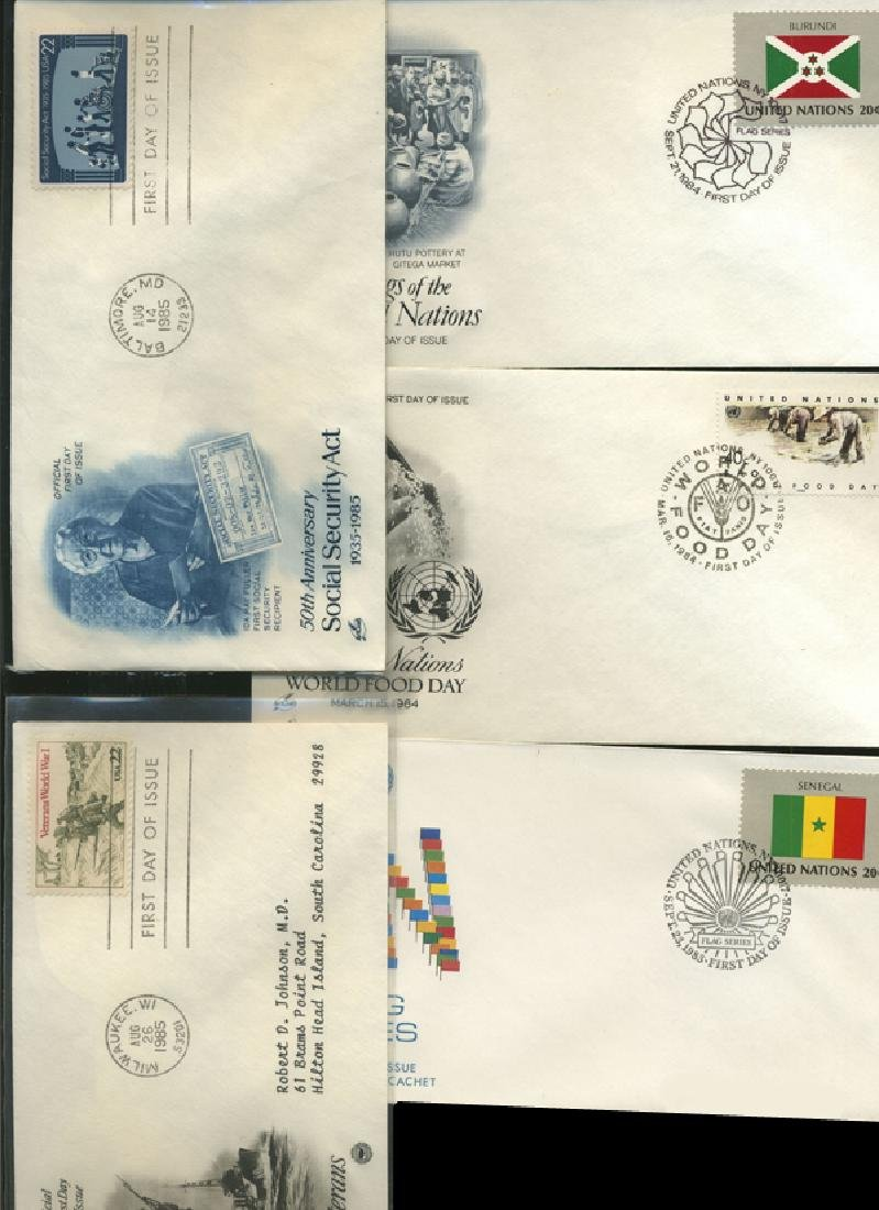 1980 US & UN FIRST DAY COVER COLLECTION