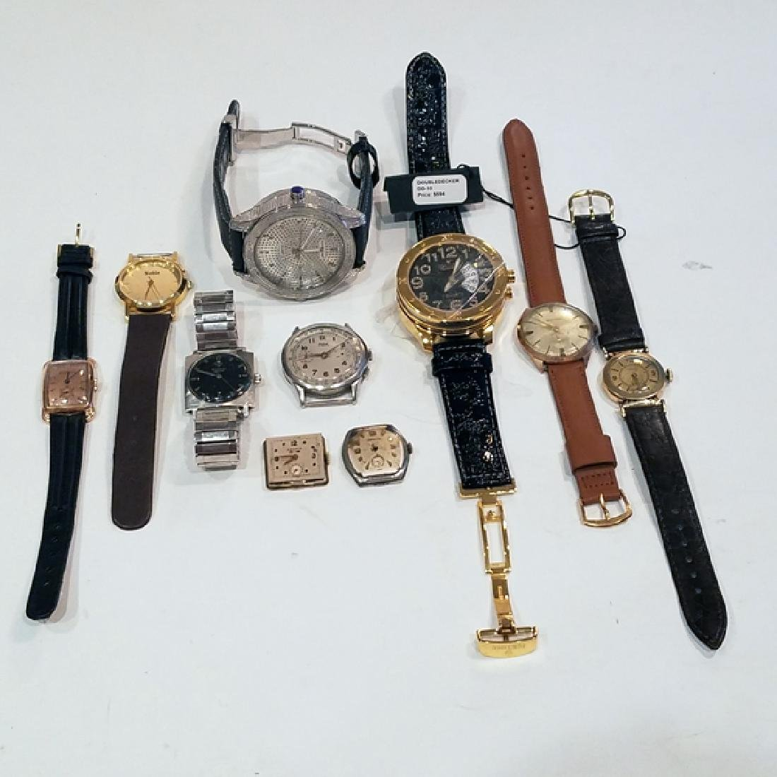 10 Men's Working Watches Some in Need of Repair
