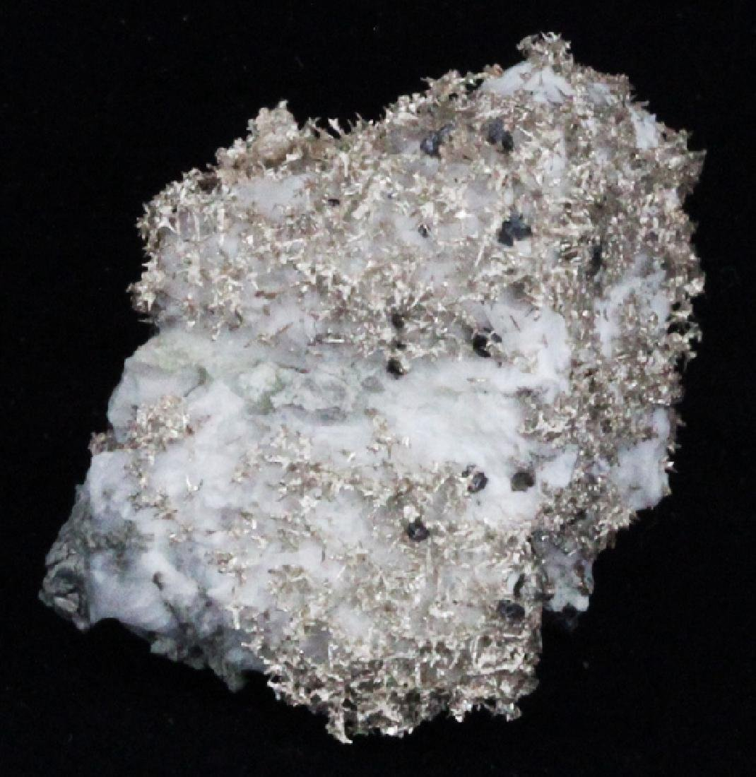 90ct RARE Natural Silver Crystal Cluster on Matrix