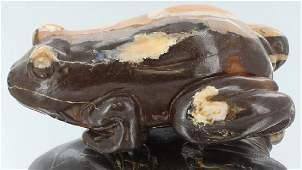 1915ct Natural Boulder Opal Carved Frog