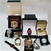 Collection 10 Men's Watches (8 NEW) All Working SOME