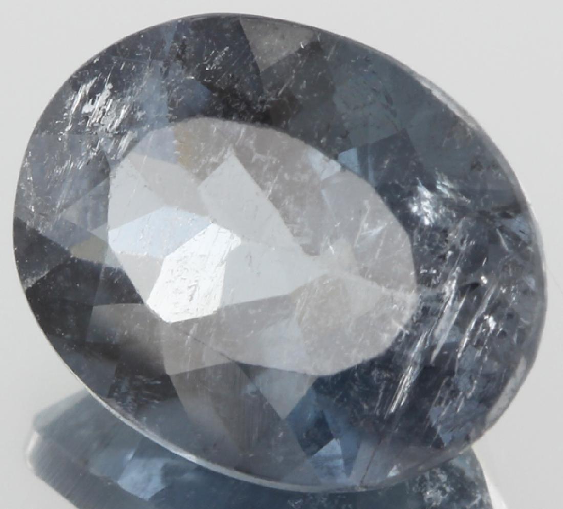 5ct Blue Tourmaline Oval Cut
