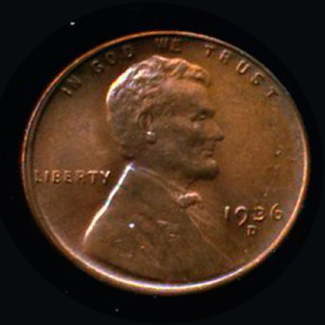 1936D Lincoln 1c GEM++ RED Hi Book Value