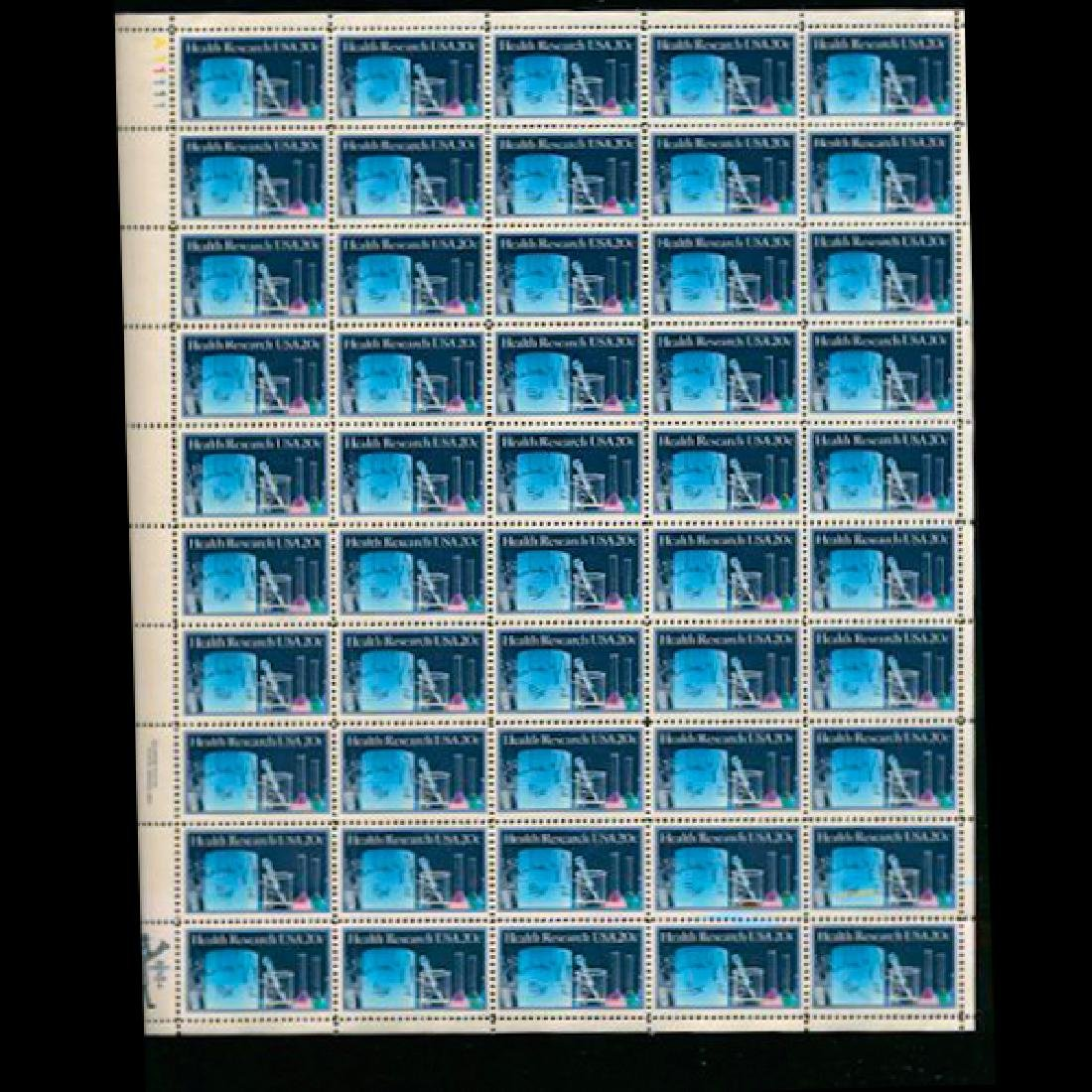1984 US Sheet 20c Health Research Stamps MNH Error RARE