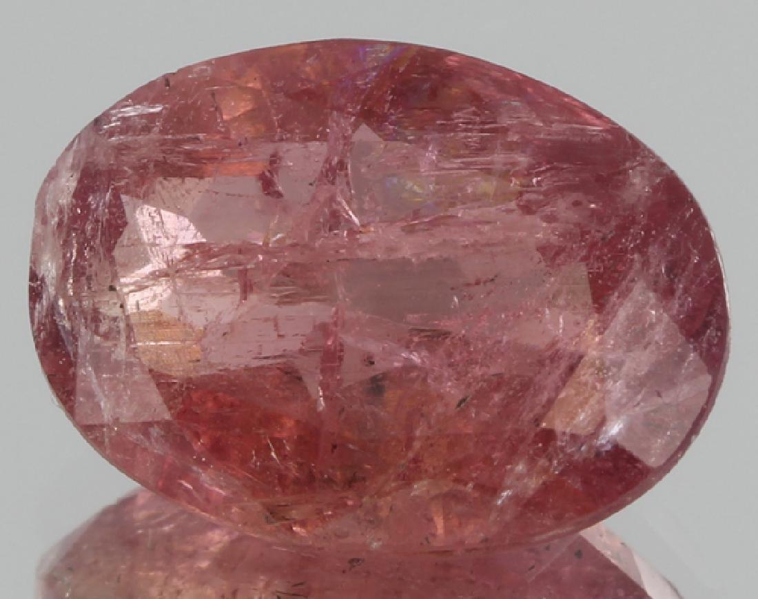 3.4ct Pink Tourmaline Hint of Watermelon Oval Cut