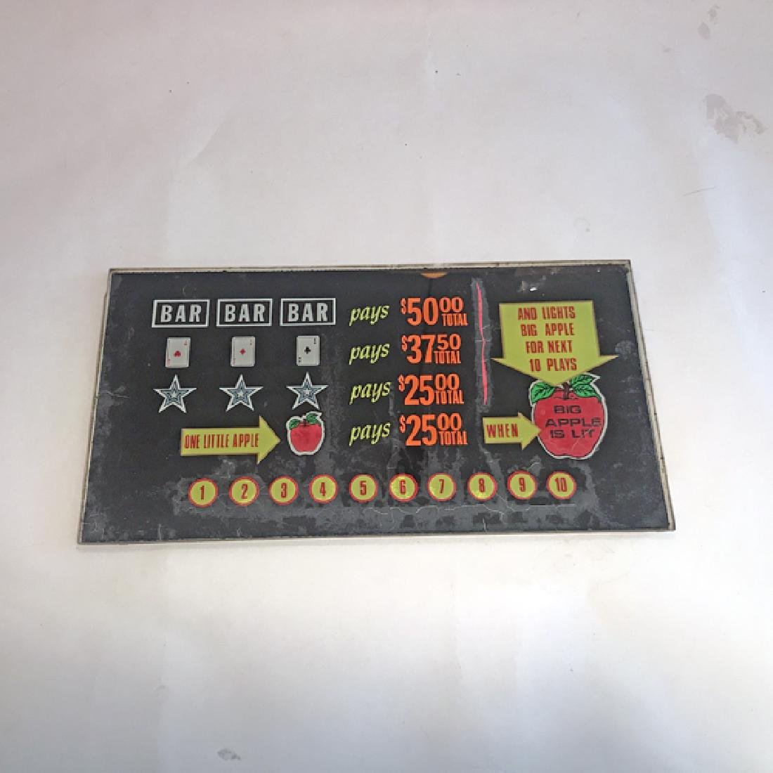 Little/Big Antique Slot Machine Glass