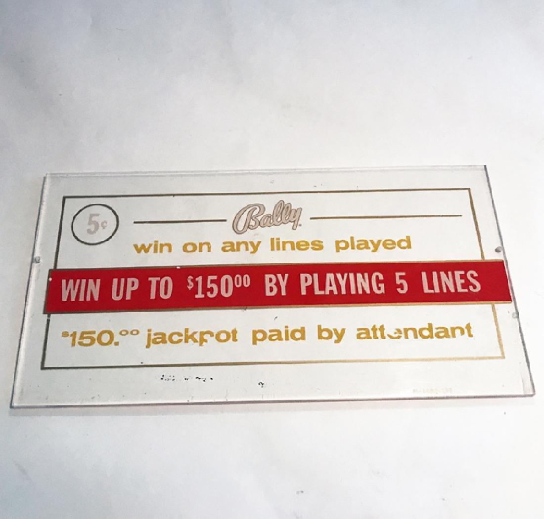 "5c Bally Antique Slot Machine ""Glass"""
