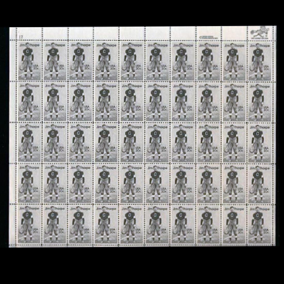 1984 US Sheet 20c Jim Thorpe Stamps MNH Error RARE