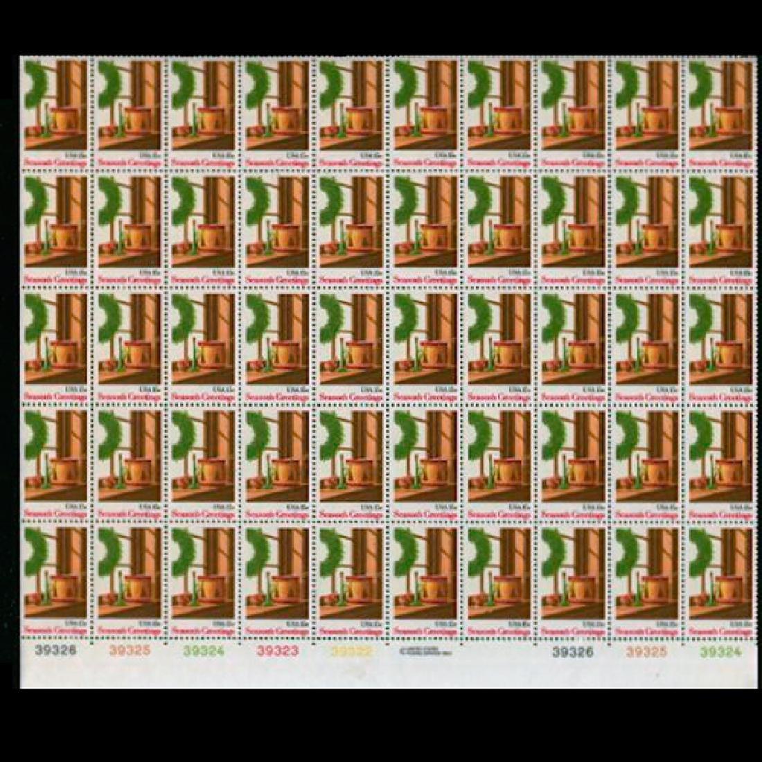 1980 US Sheet 15c Wreath & Toys Stamps MNH Errors RARE