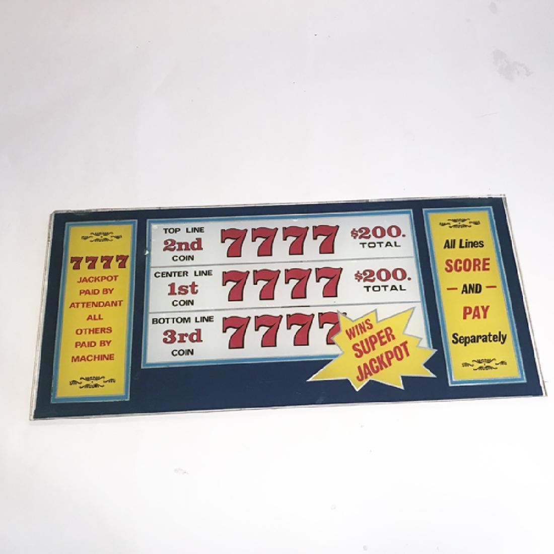 Lucky 7 Antique Slot Machine Glass