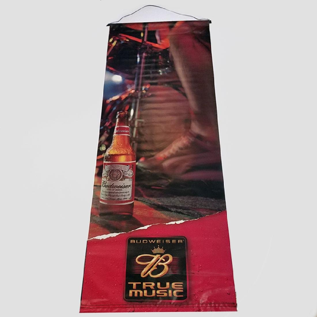 Budweiser Collectible New True Music Banners 3 Pieces