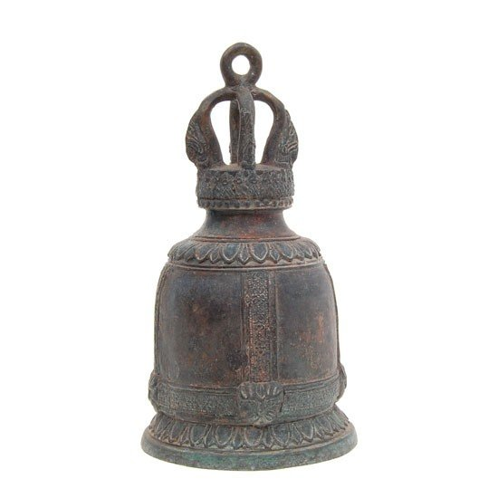 52A: Vintage Bronze Thai Buddhist Temple Bell 8""
