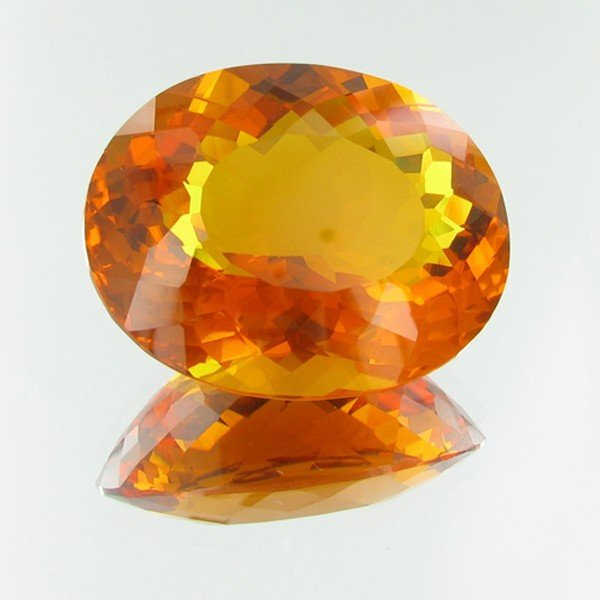 6E: 201.06ct Mandarin Orange Citrine Appraised $53k