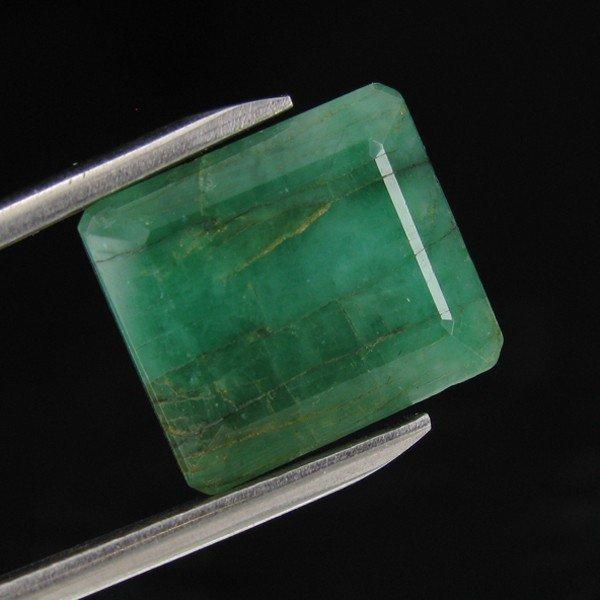 13E: 7.69ct Green Emerald Appraised $17k