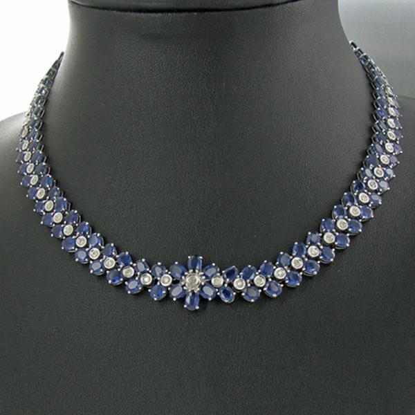 35F: 284ctw Sapphire Diamond Necklace Appraised $160k