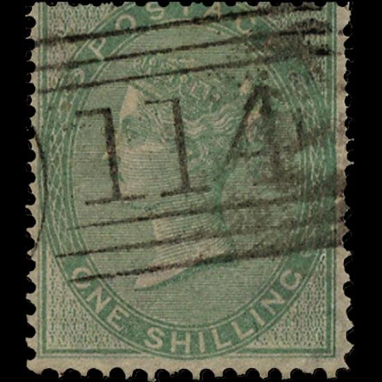 6B: 1856 RARE GB 1s Green Used Stamp