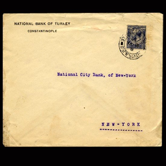 9B: 1920 GB Rare 2.5p Stamp With Turkish Postmark