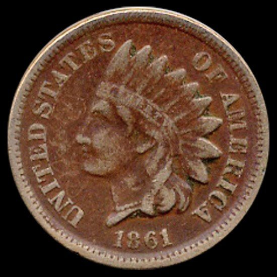 6C: 1860 Indian Cent Higher Grade