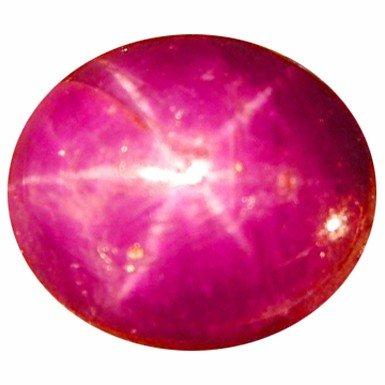 293B: 4.46ct Sparkling 6 Sharp Rays Rare Star Ruby