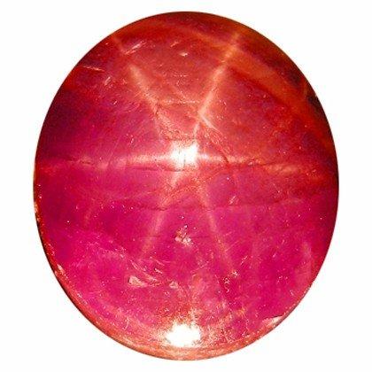 1207B: 5.01ct Sparkling 6 Sharp Rays Rare Star Ruby