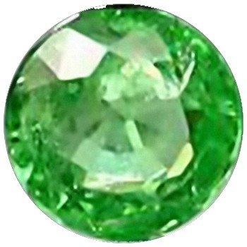 5: 2mm Round Cut Top AAA Green Garnet Tanzania VVS