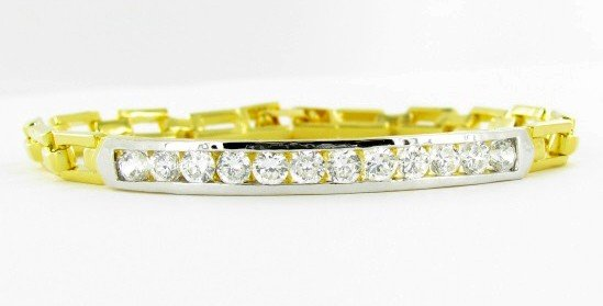 10: 58ctw Lab Diamond 22k Gold Vermeil Bracelet