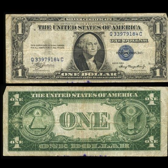 1: 1935A $1 Silver Certificate Nice Condition SCARCE