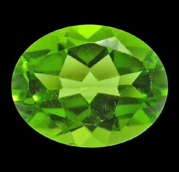 19: 2.70 ct Natural Lustrous Oval Green Peridot