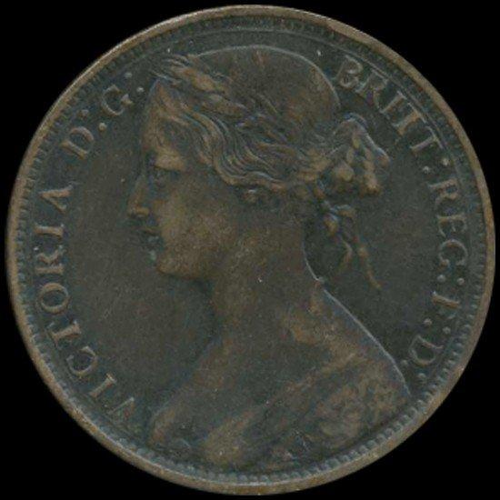 590: 1870 Britain Victoria Penny High Grade