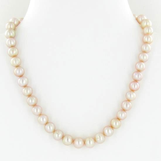 8: Rare Peach Saltwater Pearl Necklace