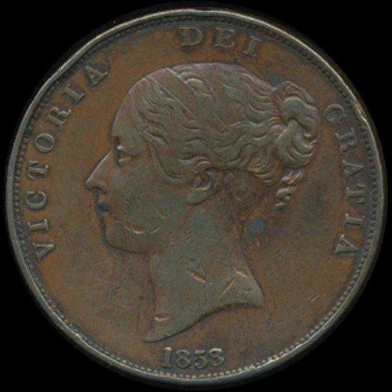 12: 1858/7 Britain Victoria Penny High Grade