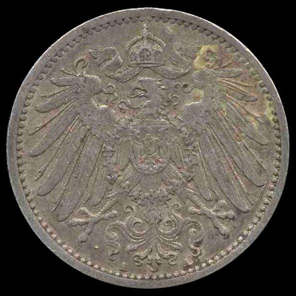 17: 1908A Germany 1 Mark Hi Grade