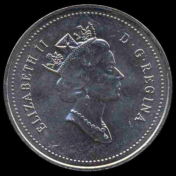 2: 1995 Canada 5c Hi Grade GEM Unc