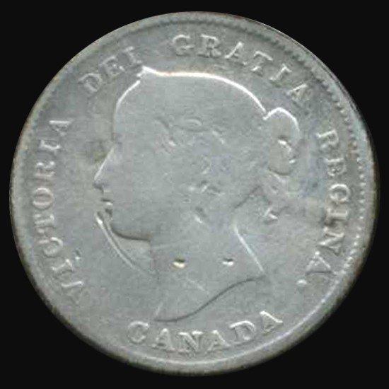 3: 1894 Canada 5 Cent Better Grade Scarce Date