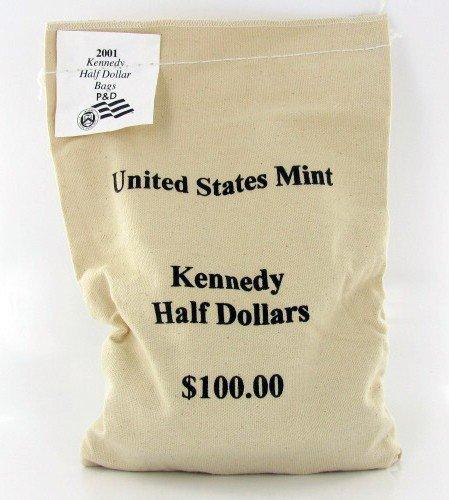 11: 2001P/D JFK Half $100 Mint Unopened Bag 200 BU