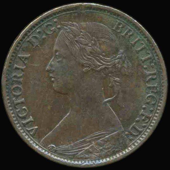 15: 1866 British Victoria Farthing AU