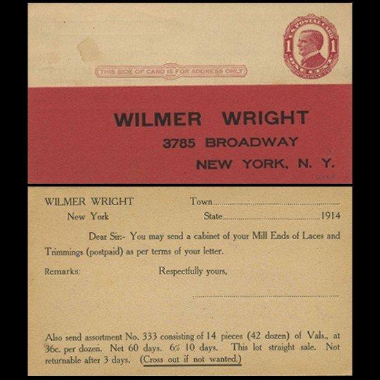 17: 1911 US McKinley 1c Postcard Mint