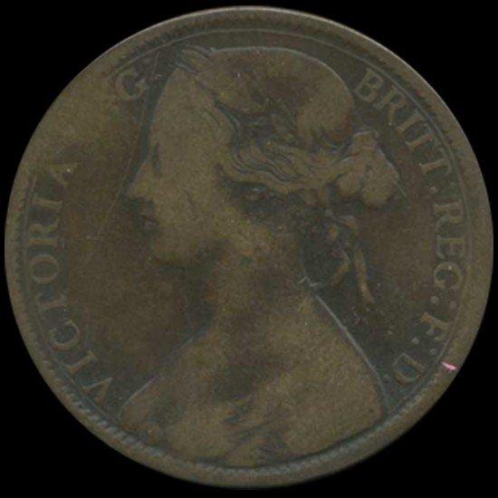 3: 1861 Britain Victoria Penny Better Grade