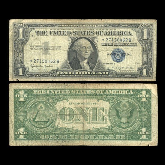 12: 1957B $1 Silver Certificate Star Note Circ RARE