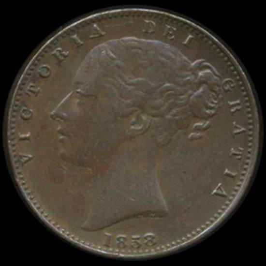 14: 1858 Britain Victoria Farthing High Grade