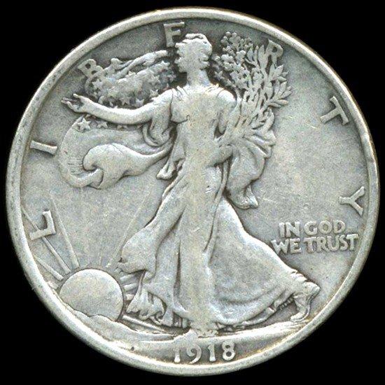 388: 1918D Walking Liberty Half Dollar Better Grade