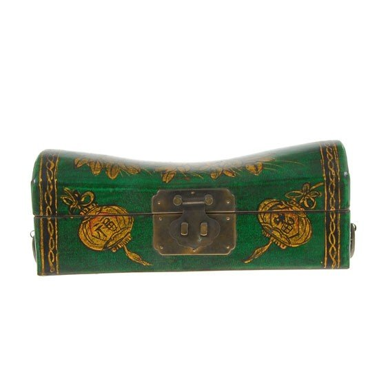 7A: Chinese Leather Covered Pillow Box