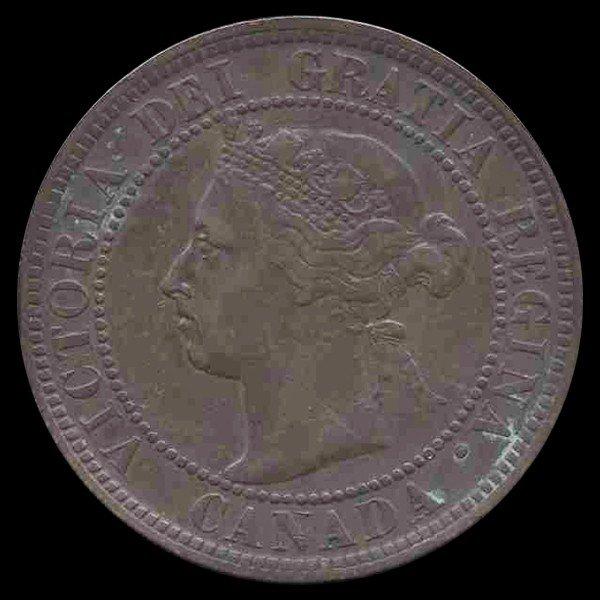 14C: 1896 Canada Cent Higher Grade