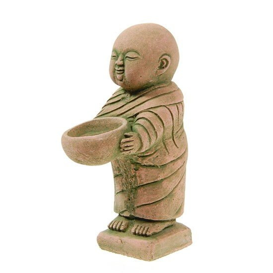 4: Hand Formed Sandstone Monk w/ Bowl