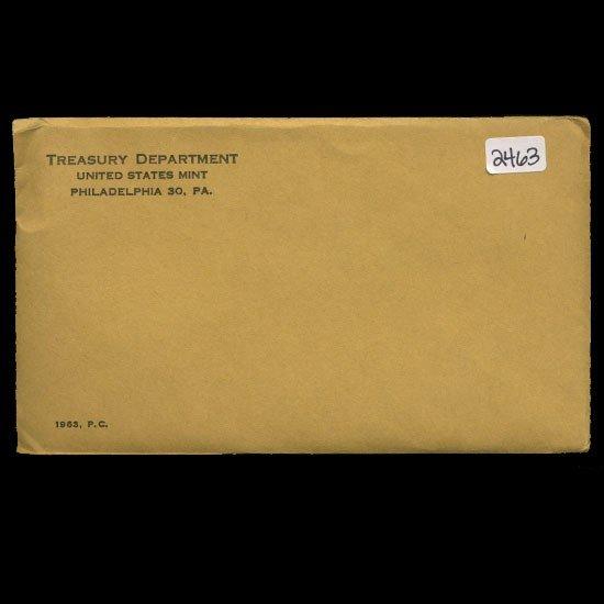 7: 1963 RARE Unopened Envelope Proof Set