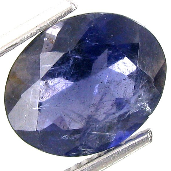 1A: 2.75ct Natural Violet African Iolite Oval Cut